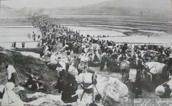 """""""韓国戦争時にソウルを脱出する市民"""" 博物館の中には、朝鮮戦争時の写真... 29の旅/韓国航空"""